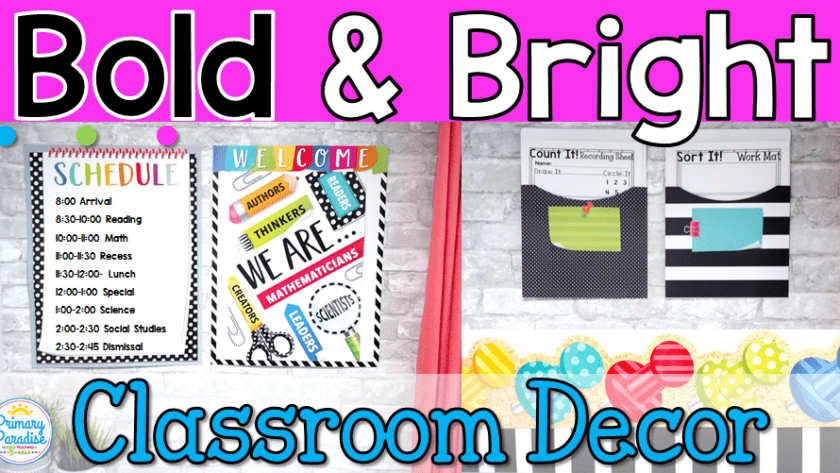 Bold & Bright Classroom Decor with Creative Teaching Press
