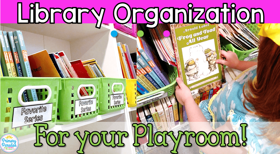 Playroom Book Organization with Oriental Trading: Color Coded