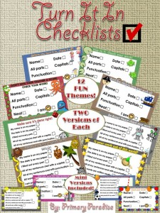 Turn It In Checklists