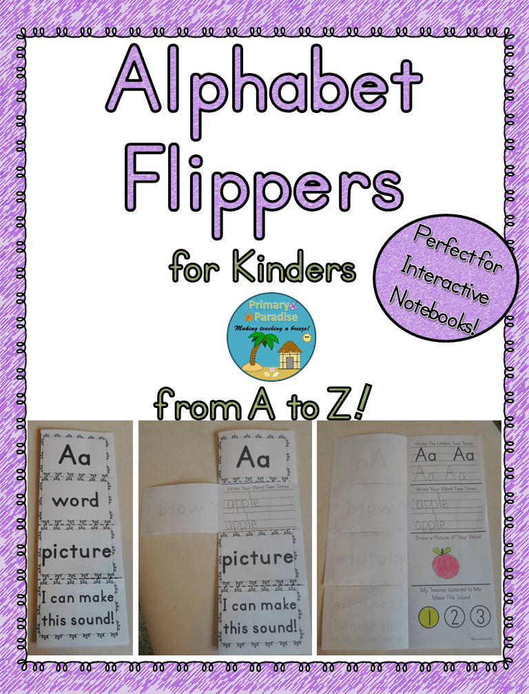 Alphabet Flippers for Kinders