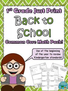 1st Grade BTS Math