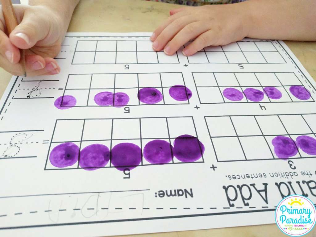 Dice and dabbers in your classroom are a great way to engage students and enhance learning in math, reading, words and more!