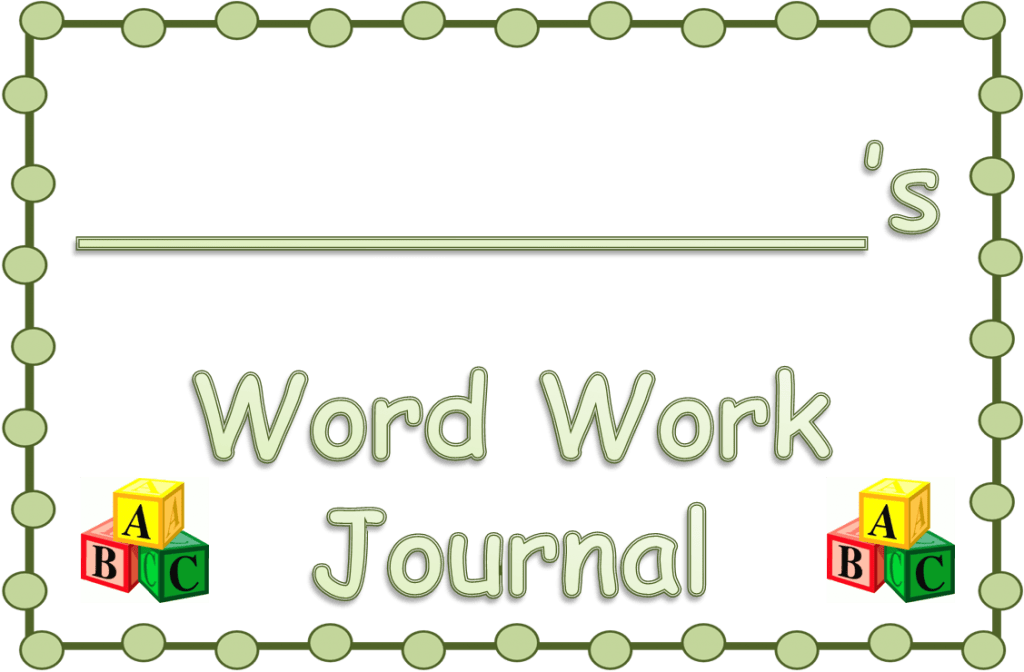 Word Work Journal Cover