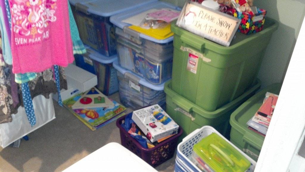 school stuff attic