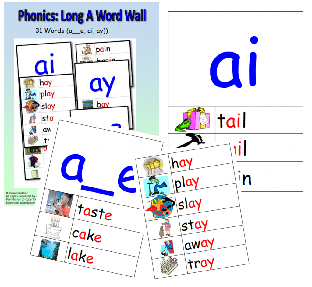 Long a Sound Words Teaching The Long a Sound