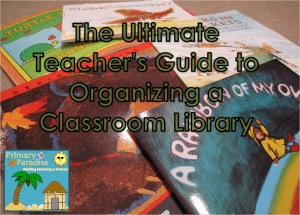 Organizing a Classrom Library