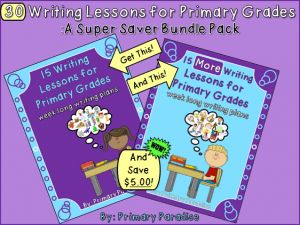 30 Writing Lessons for Primary Grades Super Saver Bundle