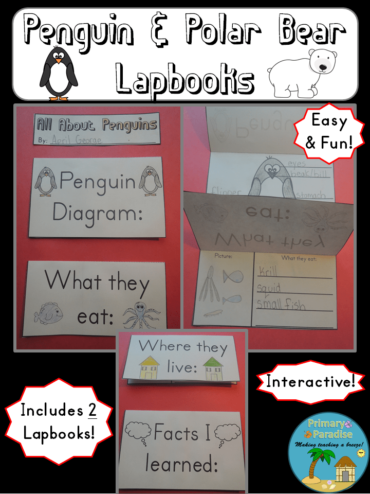 Penguin and Polar Bear Lap Book