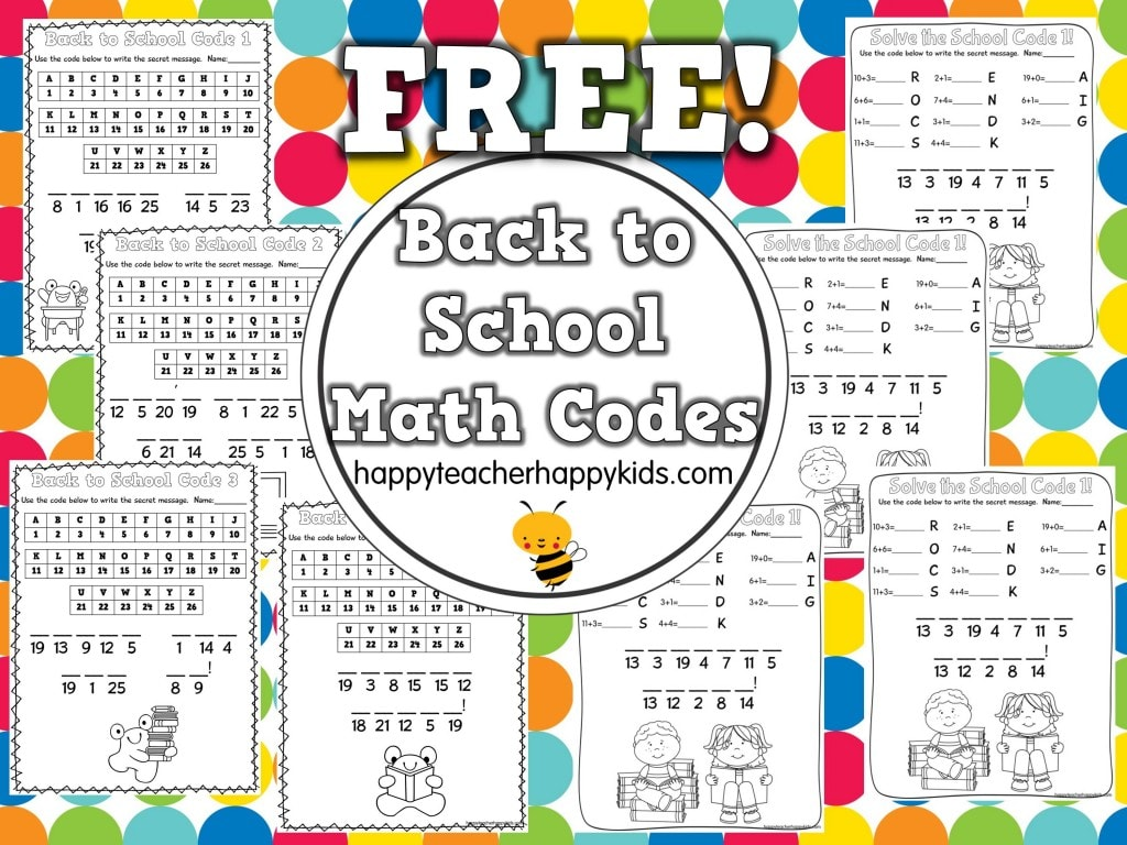 Back To School Math Worksheets Middle – Back to School Math Worksheets