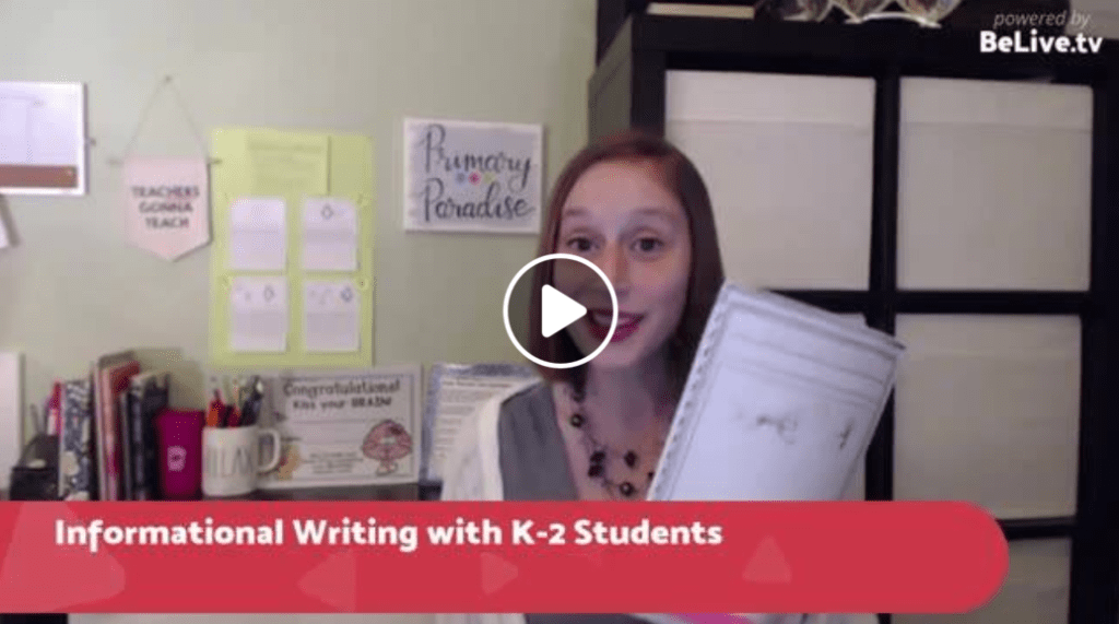 Informational writing ideas for kindergarten, first, and second graders Lucy Calkins non fiction writing booklets