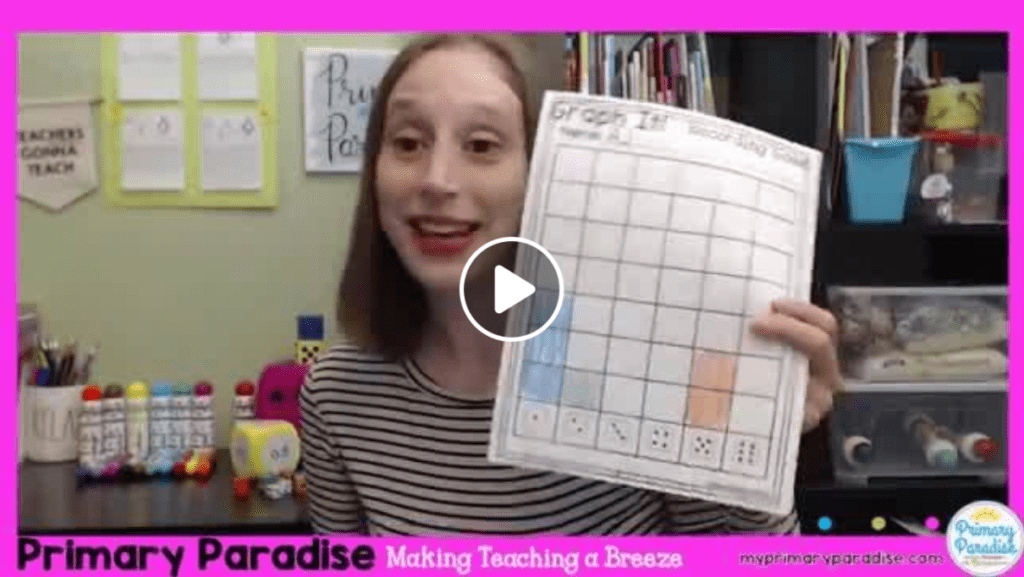 dice activities, dabber activities, math, writing, engage your students