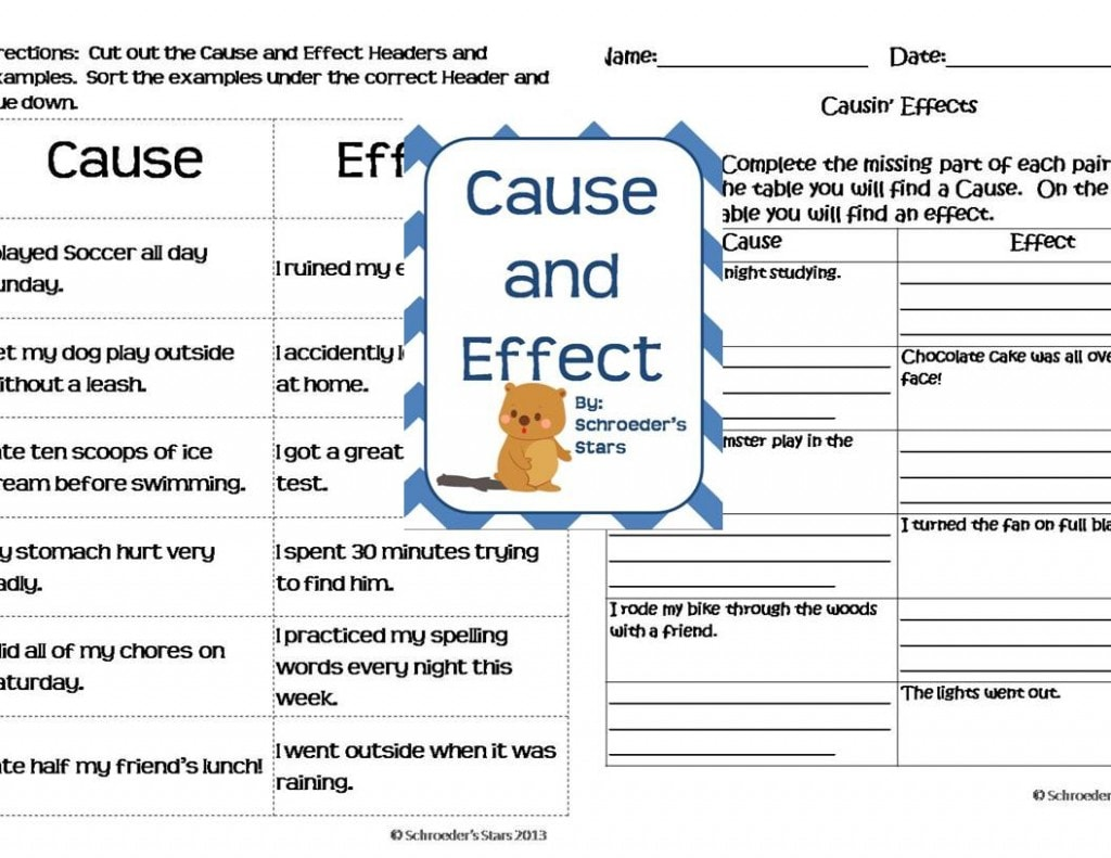 math worksheet : cause and effect  my primary paradise : Cause And Effect Worksheets For Kindergarten