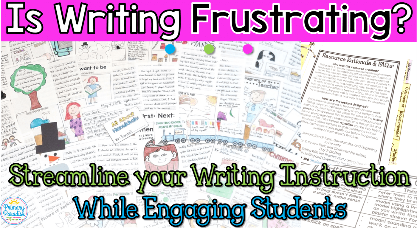 Is Writing Frustrating Your Students? Get it WRITE