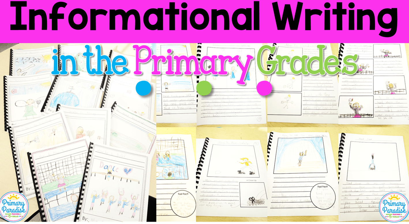 Informational Writing Books for K-2 (Lucy Calkins)