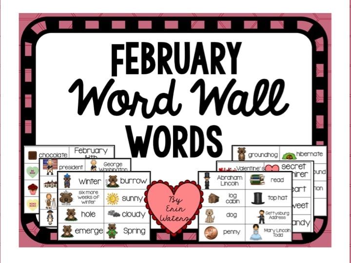 FebruaryWordWallFREEBIE