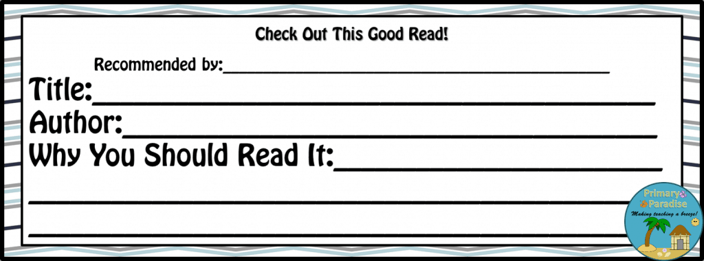 Good Reads Freebie Slip