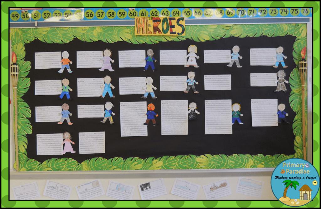 Heroes Bulletin Board {Click for FREEBIE}