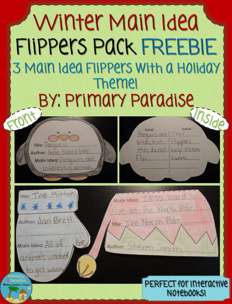 Main Idea Flippers FREEBIE