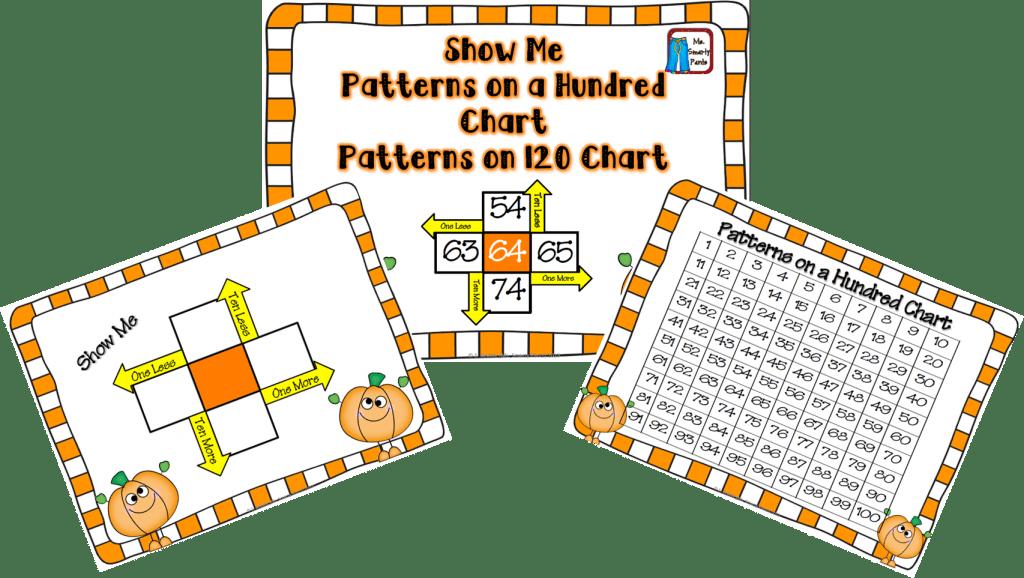 Hundreds Chart Pumpkin Freebie