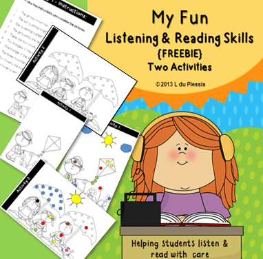 Listening & Reading Skills Summer Freebie