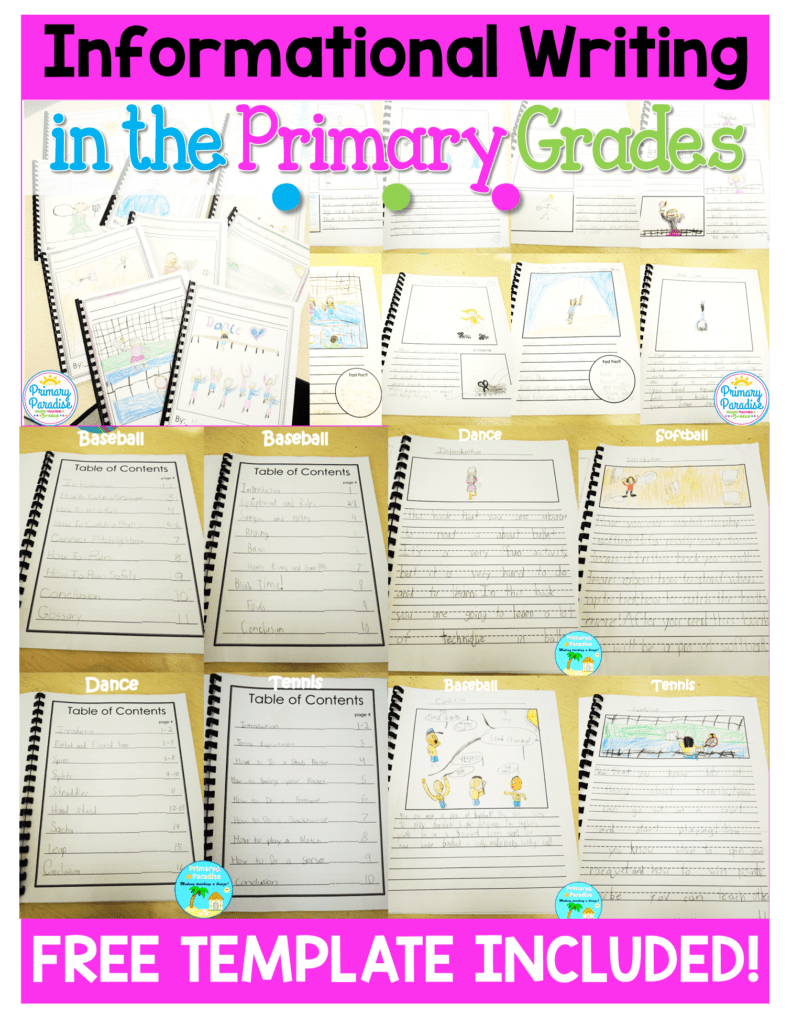 Teaching informational writing in a real and meaningful way in K-2 classrooms is a struggle, but learn how you can have your students create and publish informational books with this step by step blog post. Free template included!