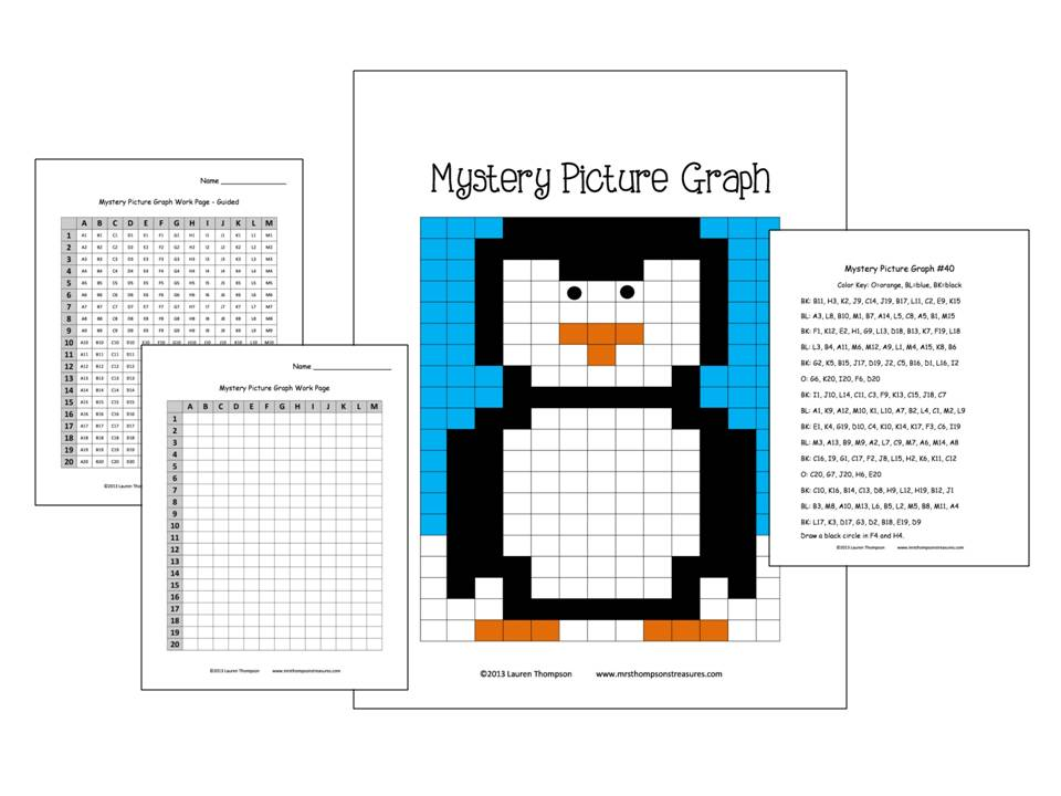 Printables Mystery Graph Worksheets mystery picture my primary paradise