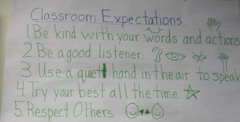 Simple Classroom Expectations