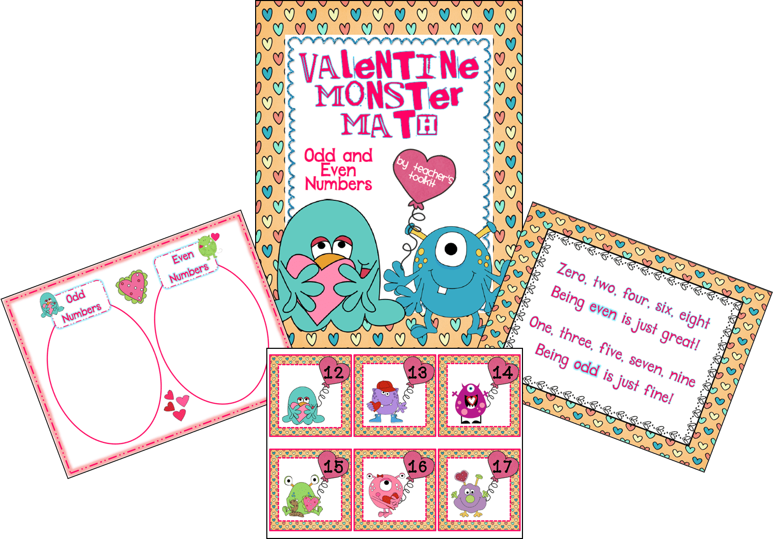 Even and Odd Valentines FREEBIE