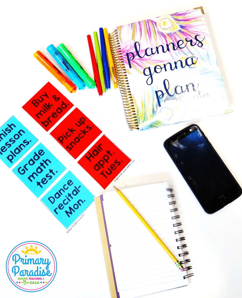 Staying organized isn't easy! Read to learn 4 teacher planning tops to help you stay organized! These are so helpful for the beginning of the year, or any time of the year!