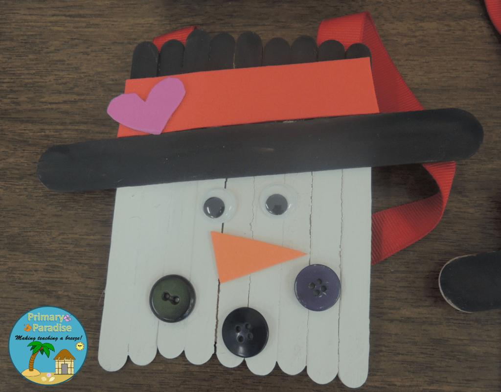 Popsicle Stick Snowman 5