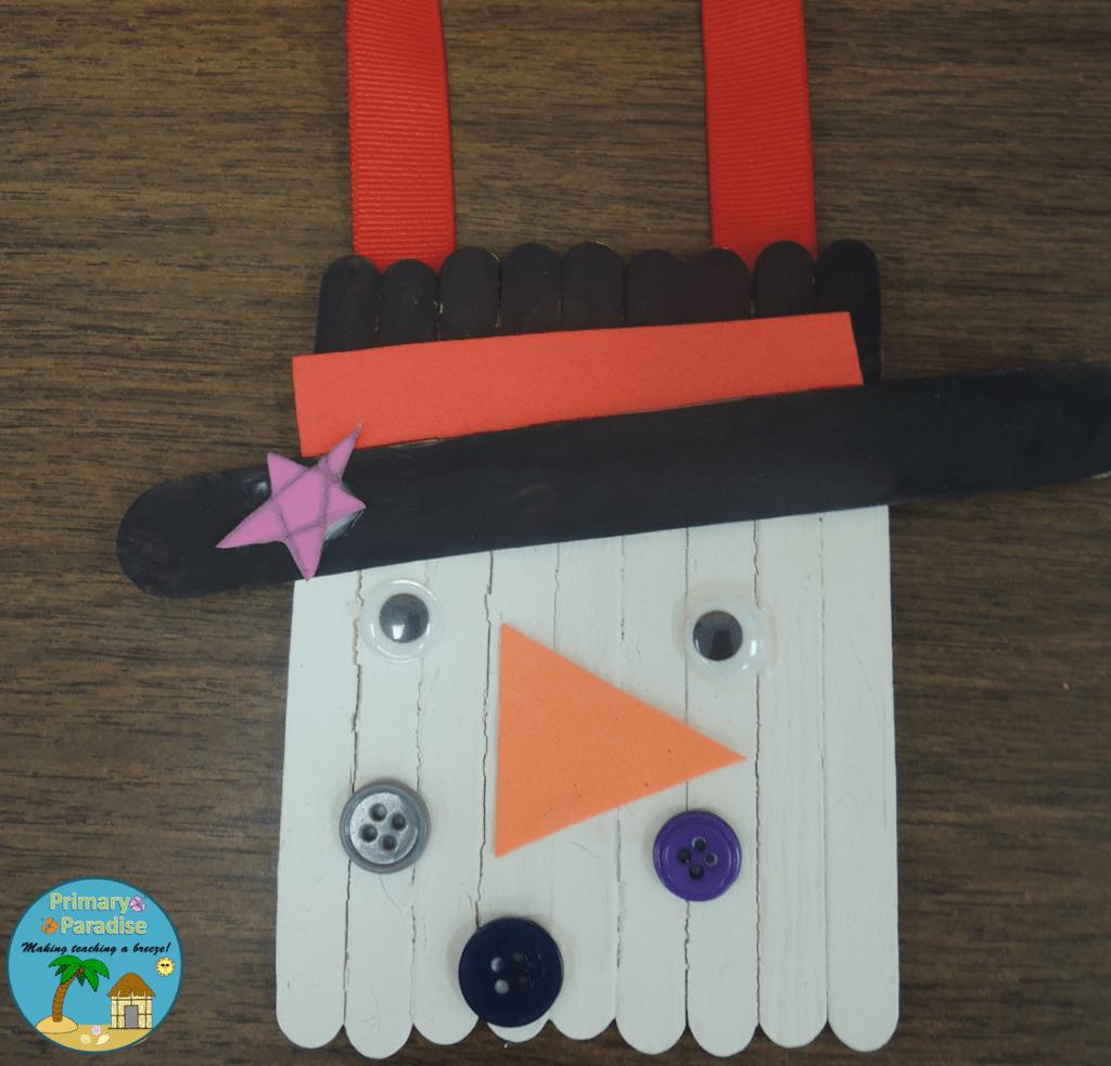 Popsicle Stick Snowman 6