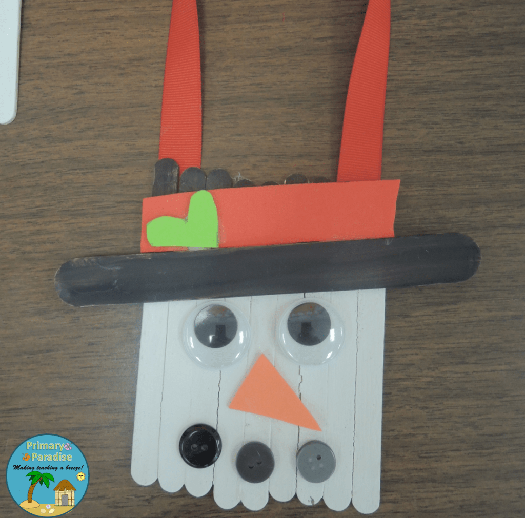 Popsicle Stick Snowman 7