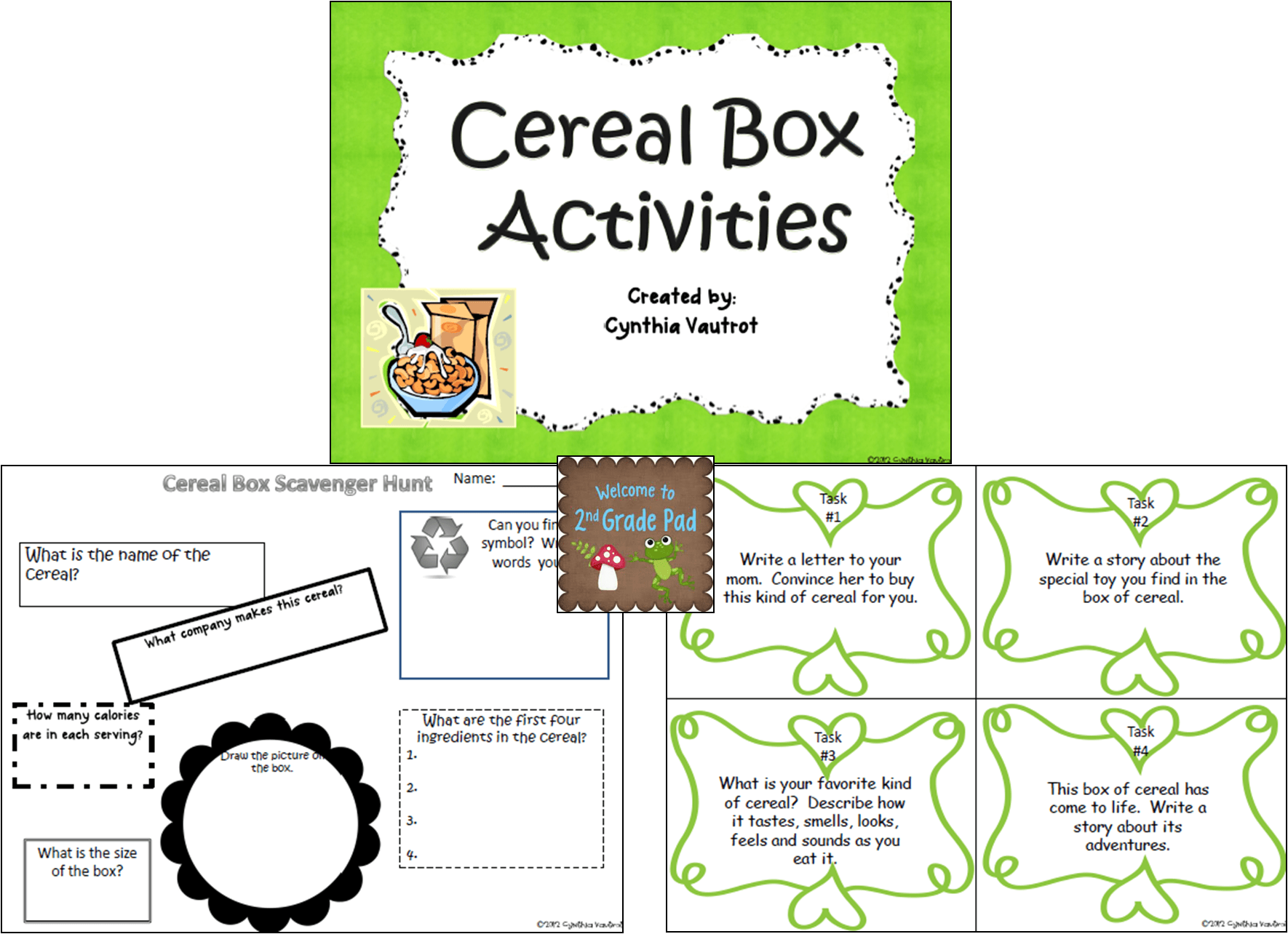 Reading a Cereal Box Activities