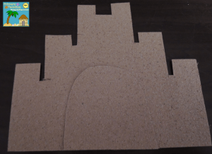 Sand paper sandcastles for beach themed birthday board 3