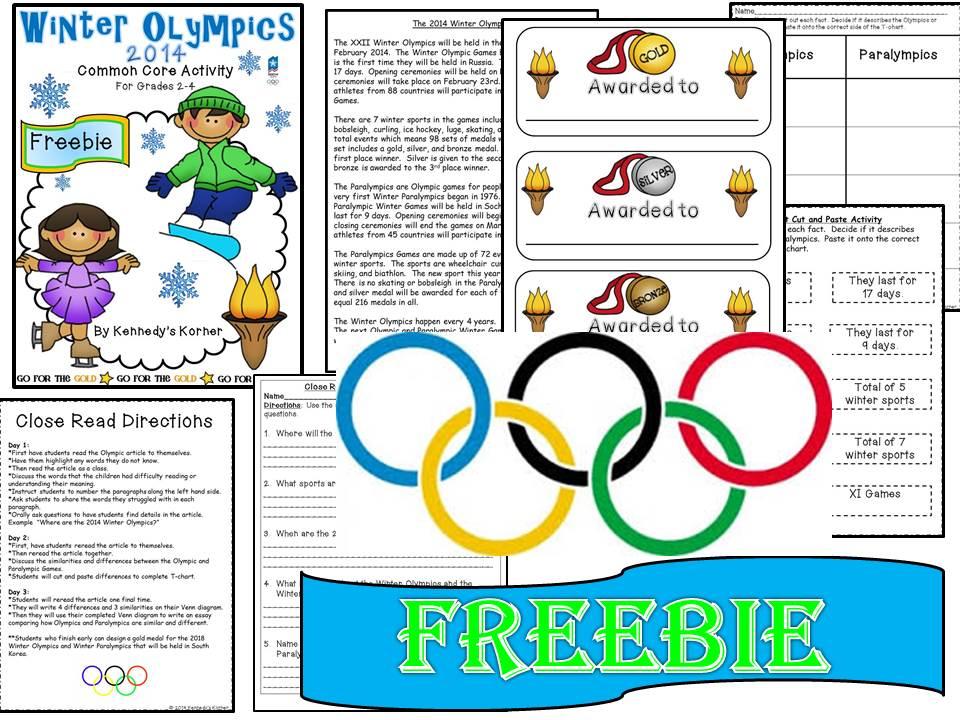 Olympics Freebie