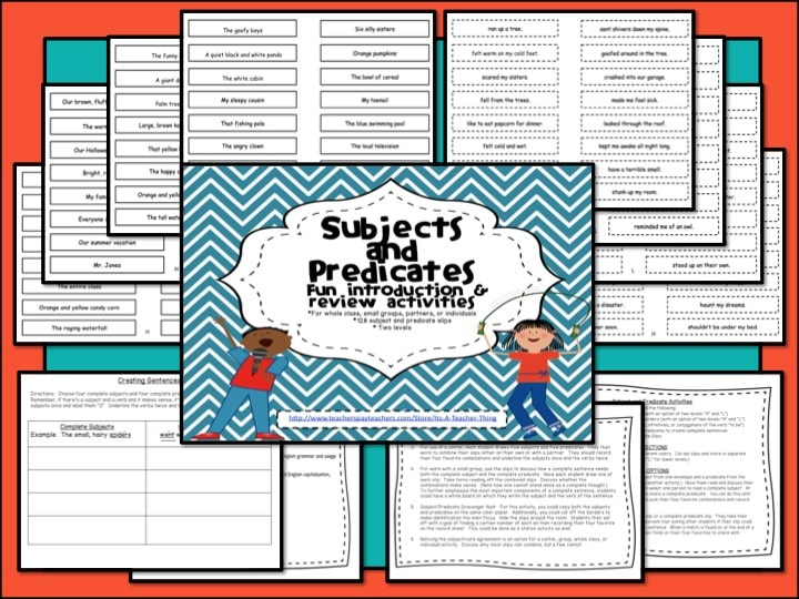 Subjects and Predicates Freebie