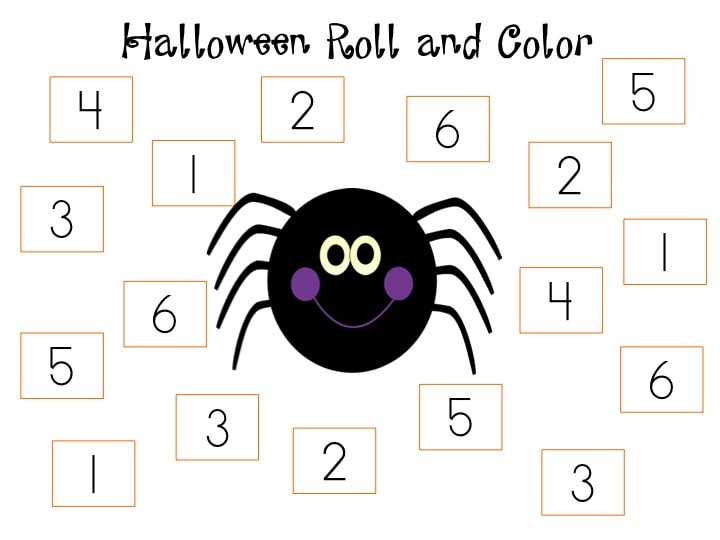 Halloween Roll and Color
