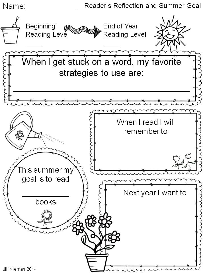 Summer Reading Goal Freebie
