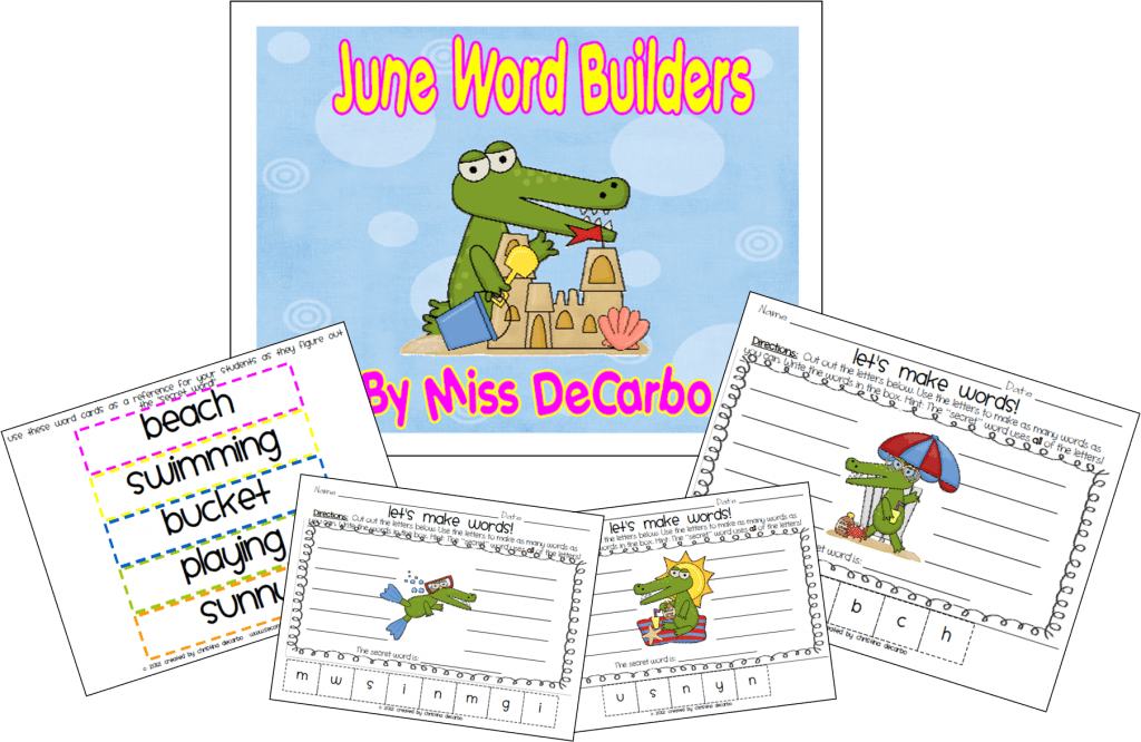Summer Word Builders