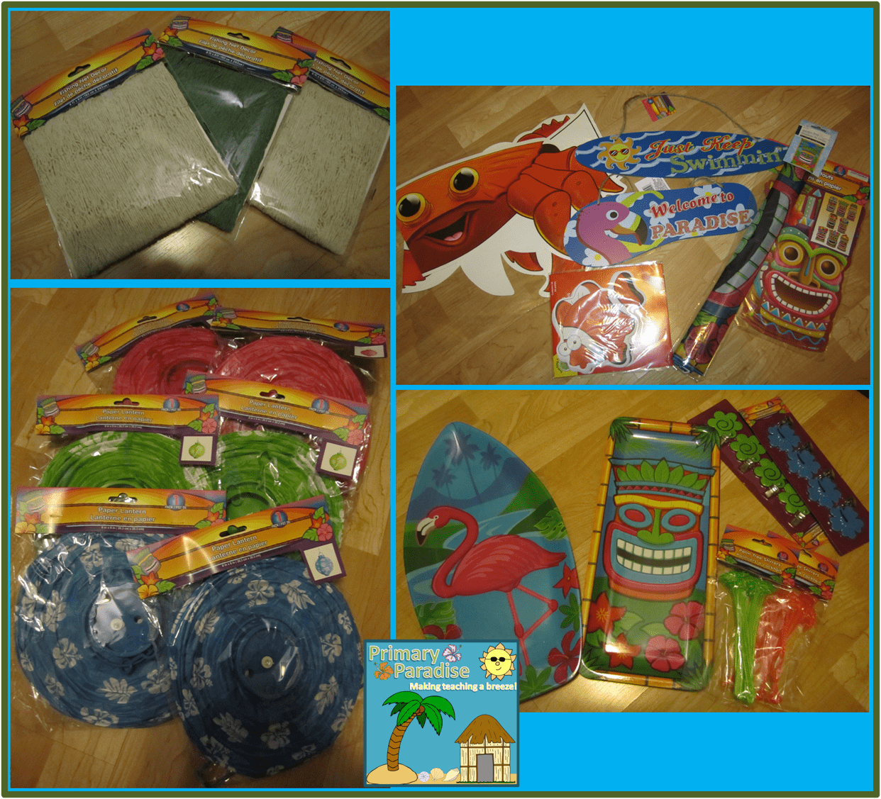 Tropical Classroom Dollar Tree Items