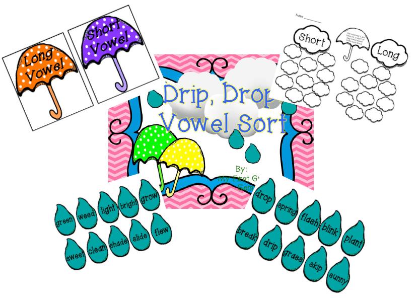 Drip Drop Vowel Sort