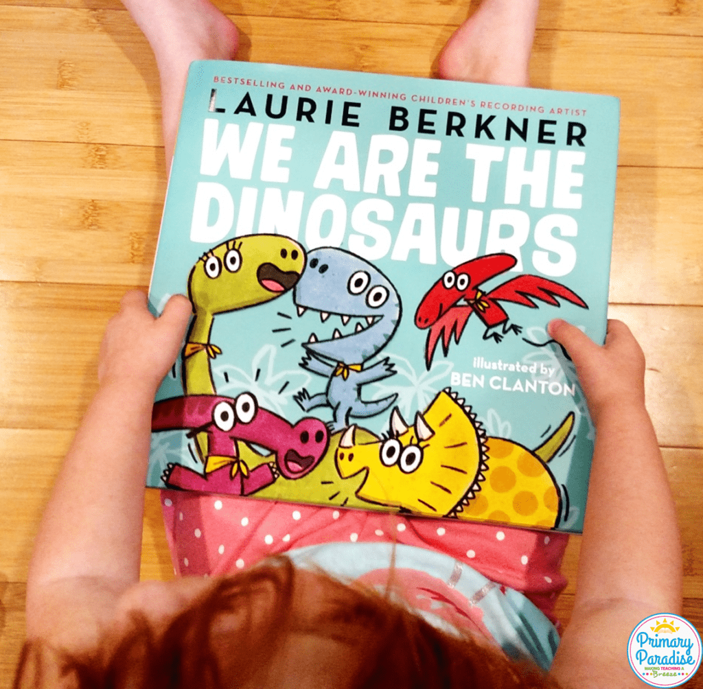 Use Laurie Berkner's We are the Dinosaurs to teach dialogue with this fun, free activity!