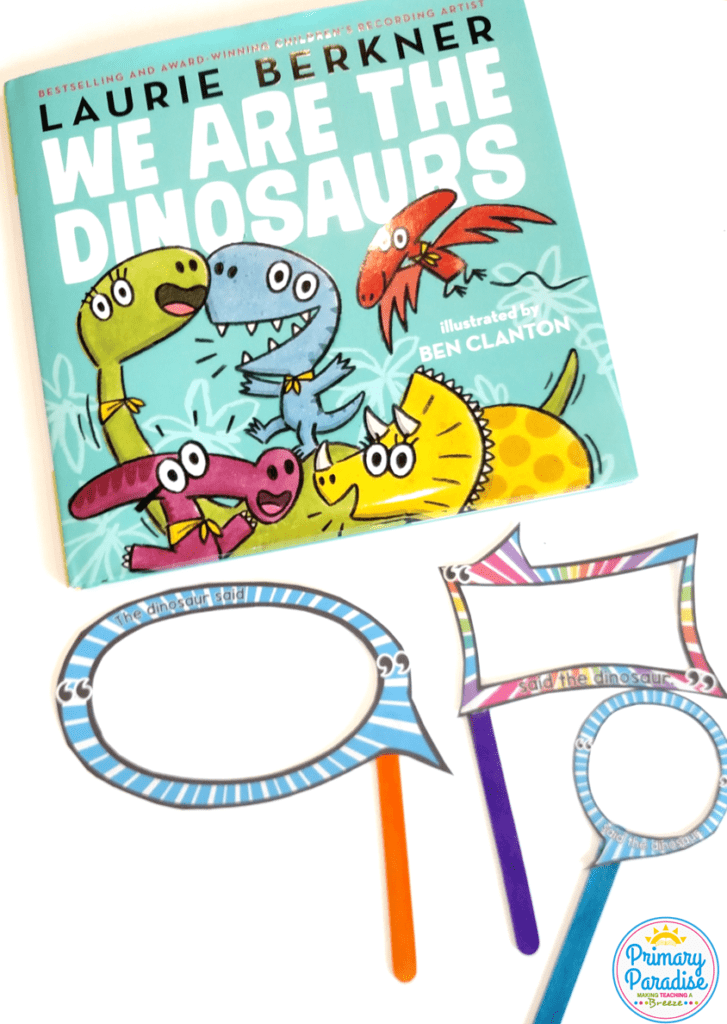 Use Laurie Berkner's We are the Dinosaurs to teach dialogue with this fun, free activity! 5