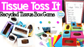 Use empty tissue boxes to create this fun, easy game to use with your students to review skills!