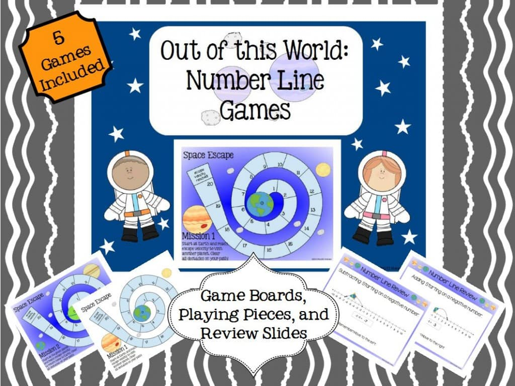 Space  Number Line Game FREE