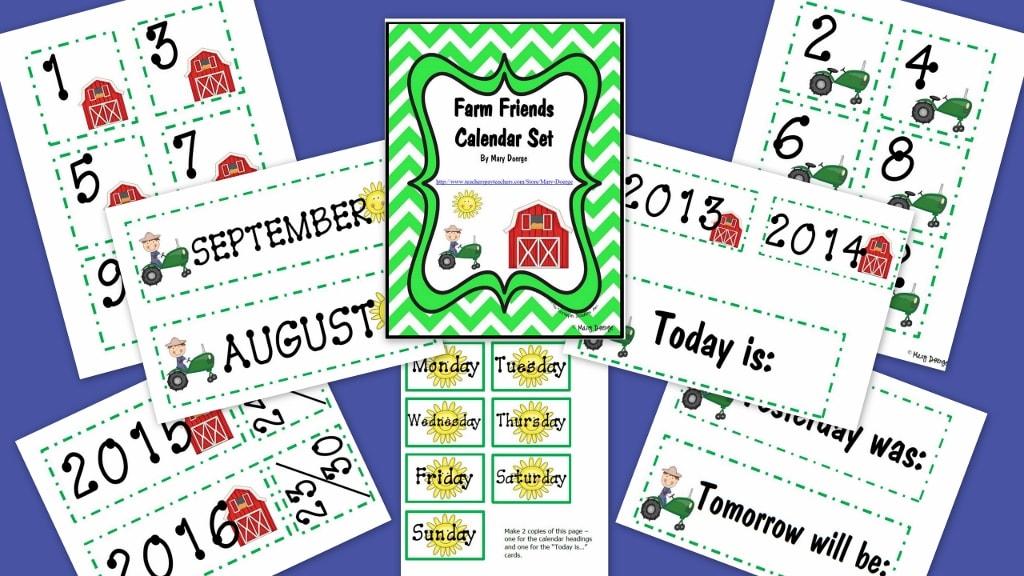 #Free farm calendar set
