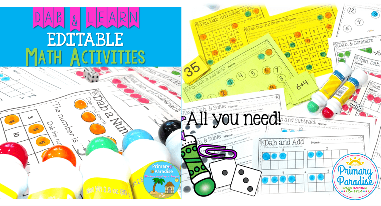 Dab & Learn Number Sense Math Activities