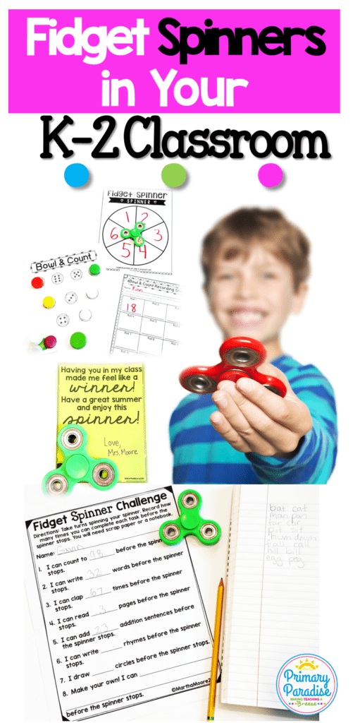 Fidget spinners: your students are obsessed with them, so learn how you can use them productively to engage your students in your K-2 classroom!