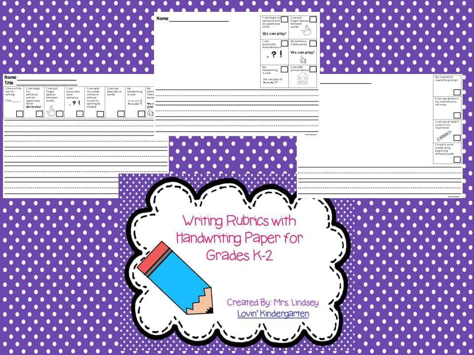writing rubric freebie