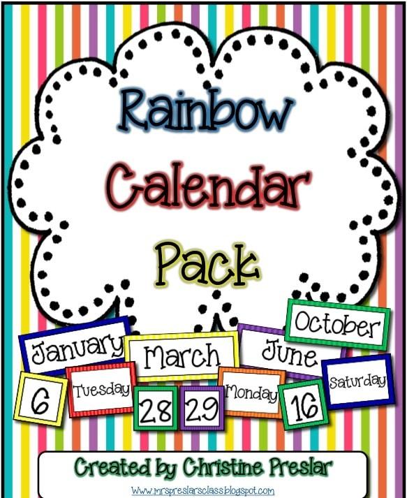 Rainbow Calendar Pack